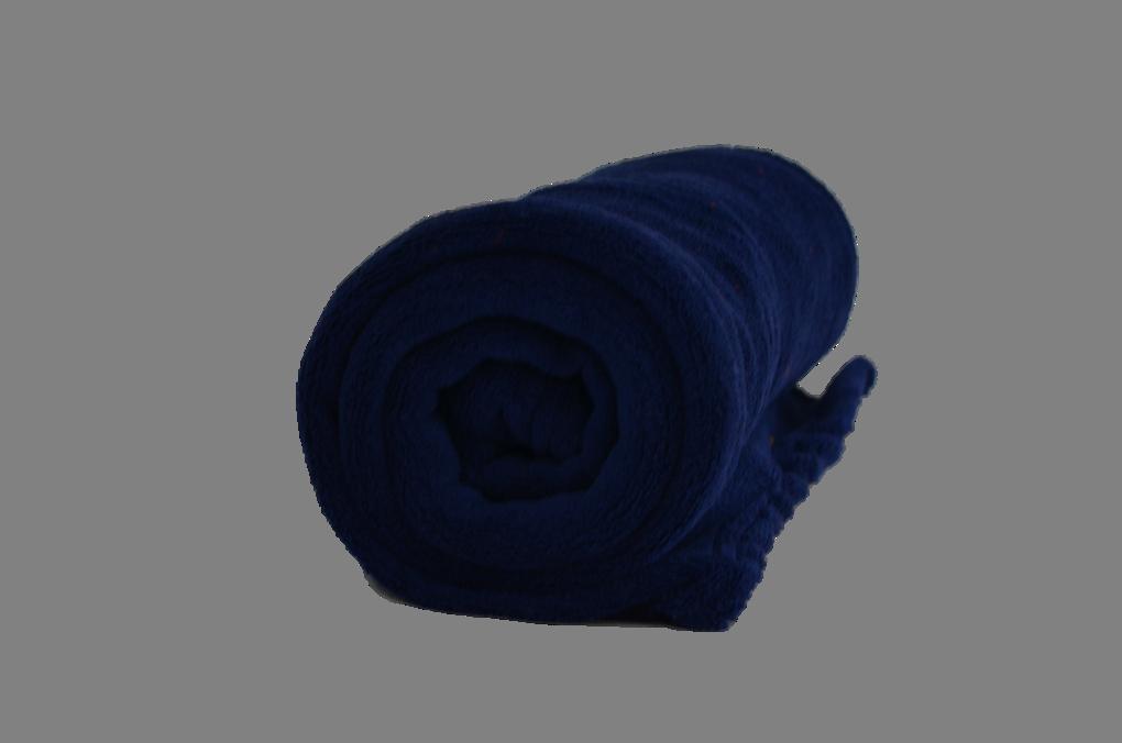 Cobertor Microfibra Bebê Liso Azul Marinho