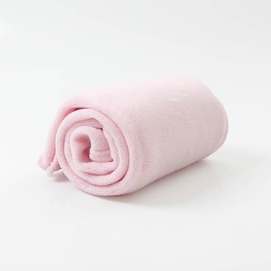 Cobertor Microfibra Berço Liso Rosa