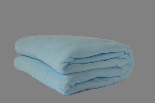 Cobertor Microfibra Plush Azul Bebê
