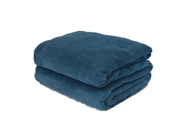 Cobertor Microfibra Plush Azul Índigo
