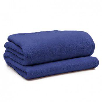 Manta Softfleece Azul Marinho