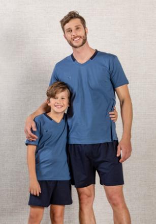 Pijama Masculino Em Malha Decote V - Infantil