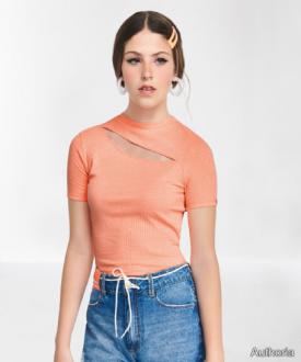 Blusa Malha Detalhe Decote