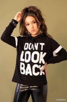 "Blusa Moletom ""Dont Look Back"""