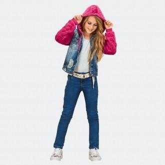 Calça Cintura Baixa Jeans com Lycra