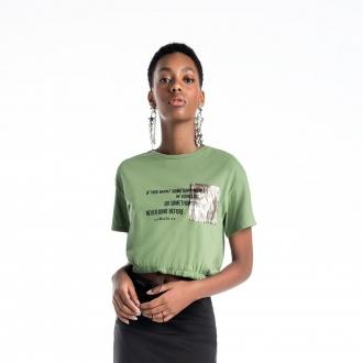 Camiseta cropped letter - Oi M