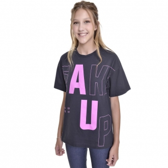 Camiseta Oversized com Estampa - Fany