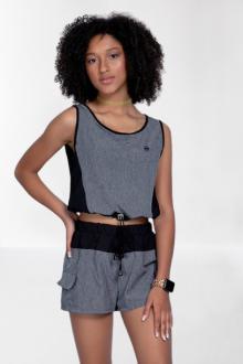 Conjunto Shorts com Blusa Elástico
