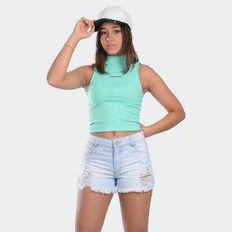 Shorts Jeans Pedrinha Lateral