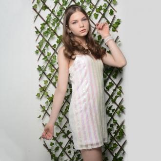 Vestido Paetê - Vanilla