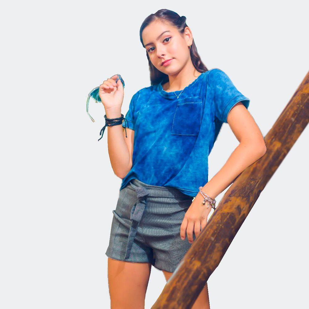 Blusa Malha Jeans - Fas Girl