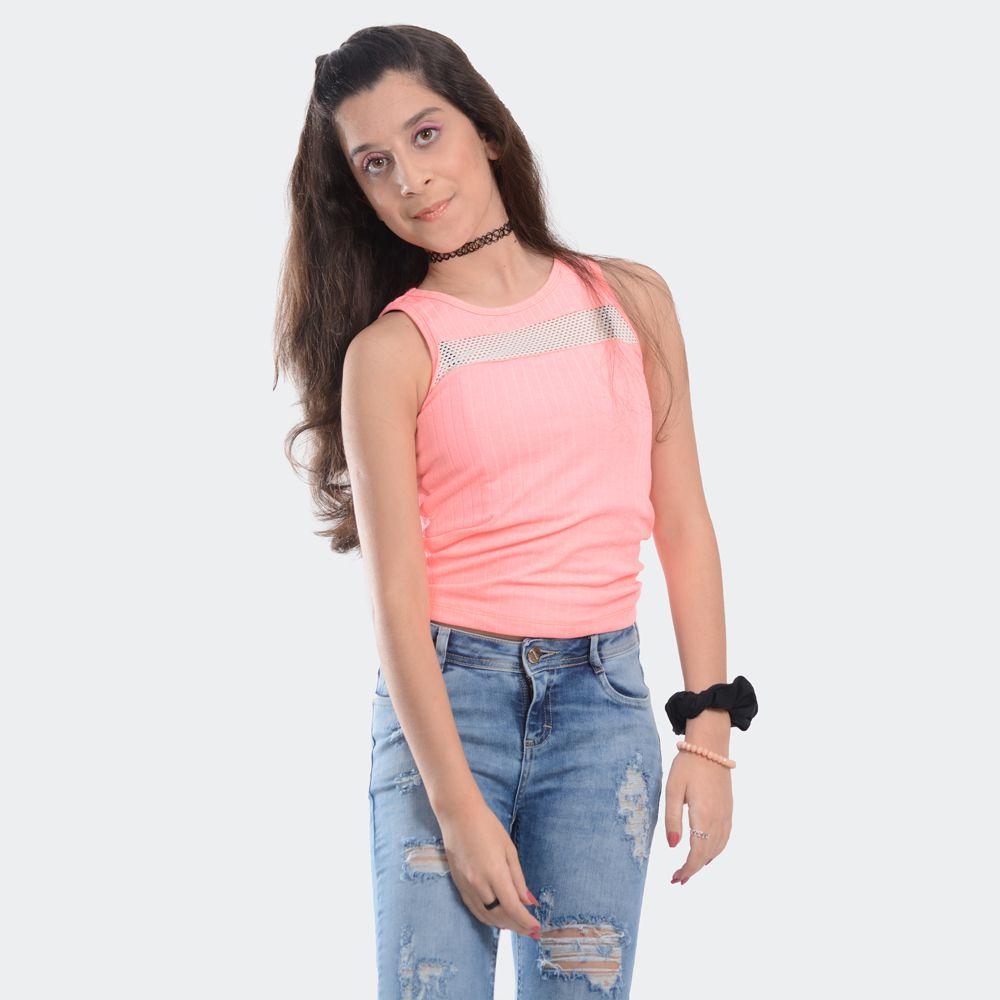 Blusa neon com telinha
