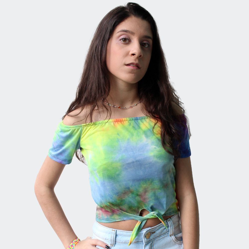 Blusa ombro a ombro color