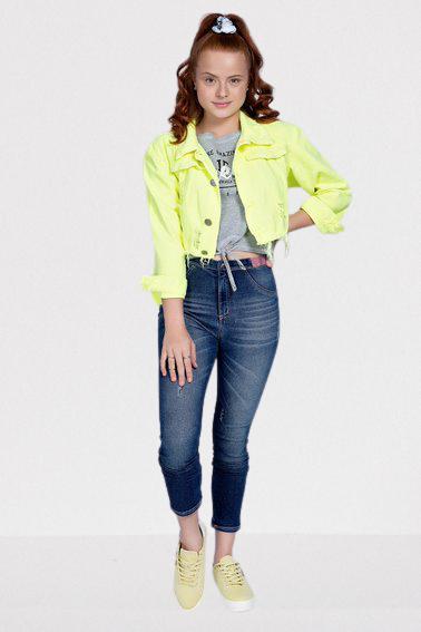 Calça Jeans Cós Elástico