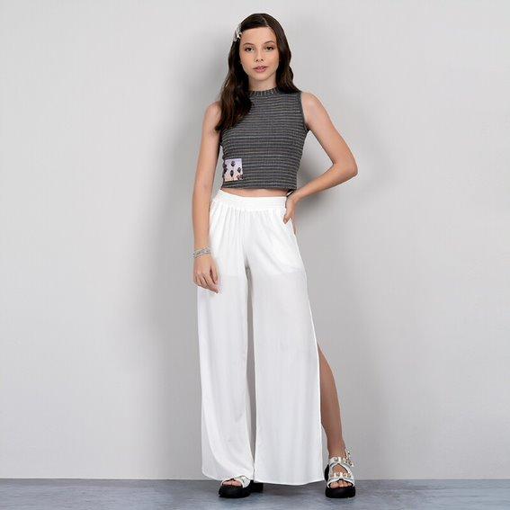 Calça Pantalona Abertura Lateral - Collie