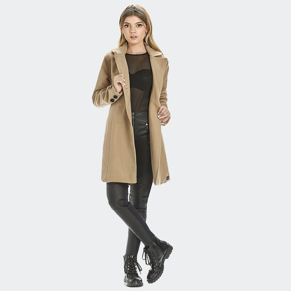 Casaco Longo Veludo Trench Cout -KPD
