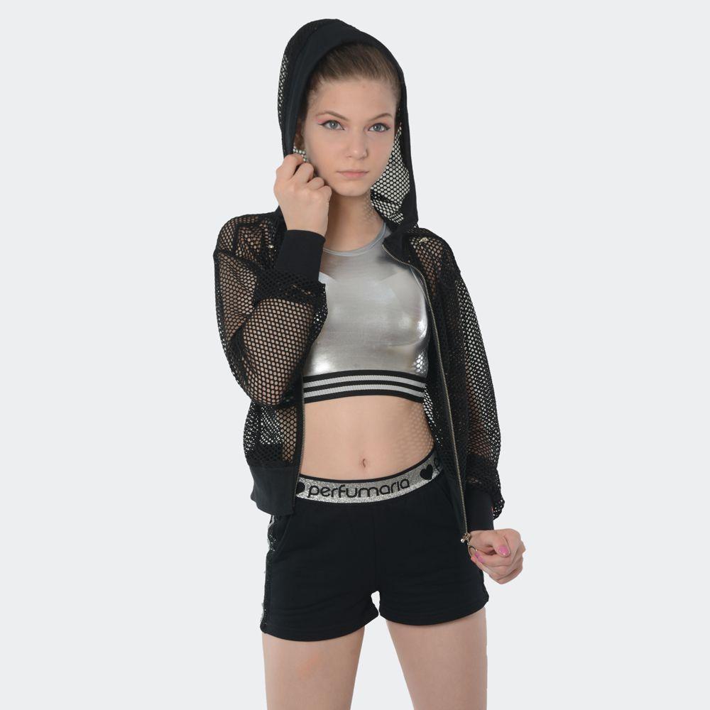 Jaqueta de Tela com gorro