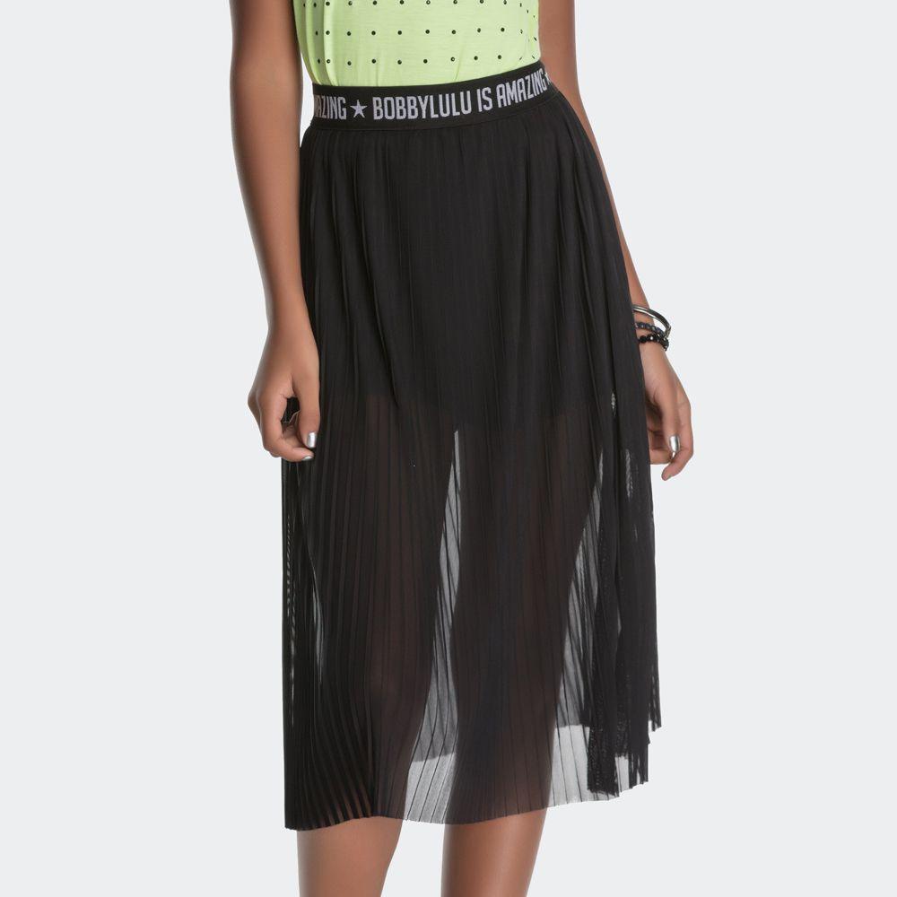 Saia Login Teen Plissada com Shorts