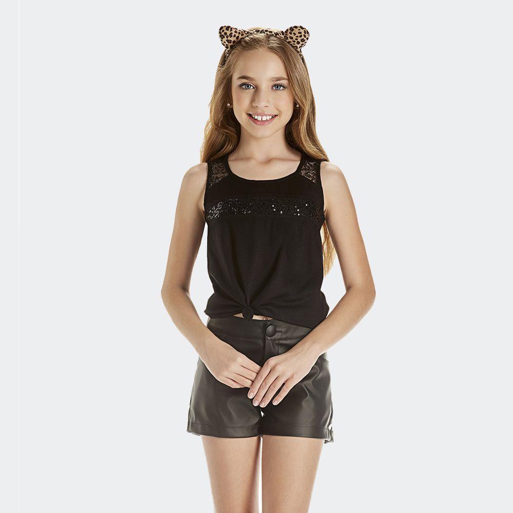 Shorts Couro Fake - Kpd