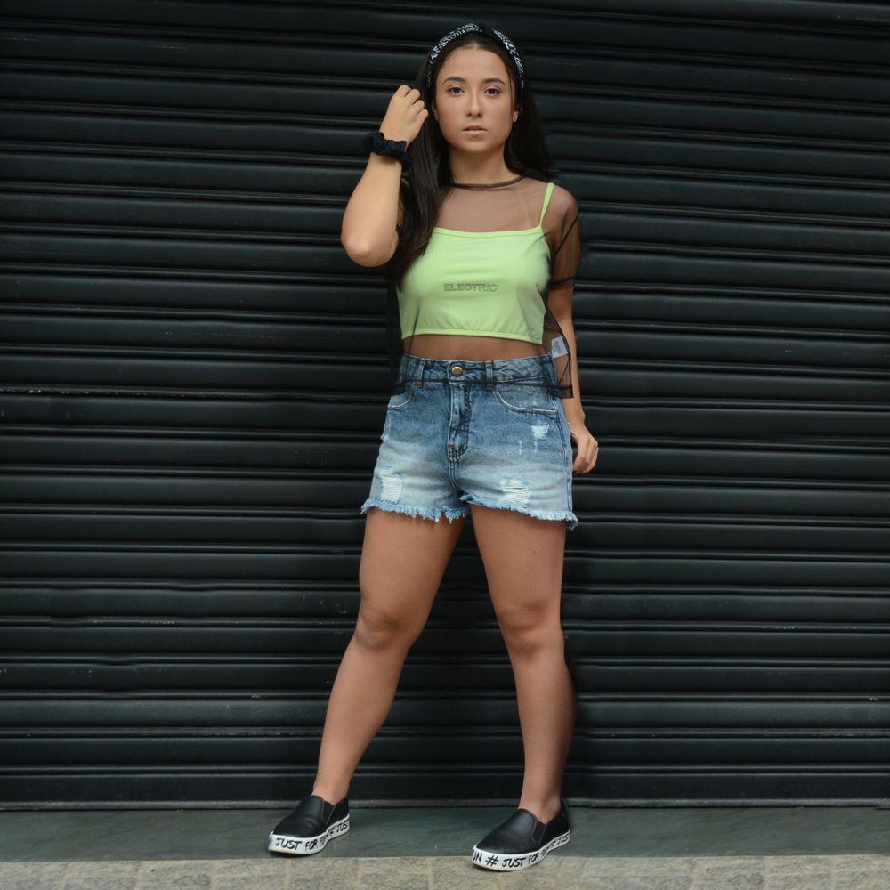 Shorts Jeans Rasgado - Yeskla
