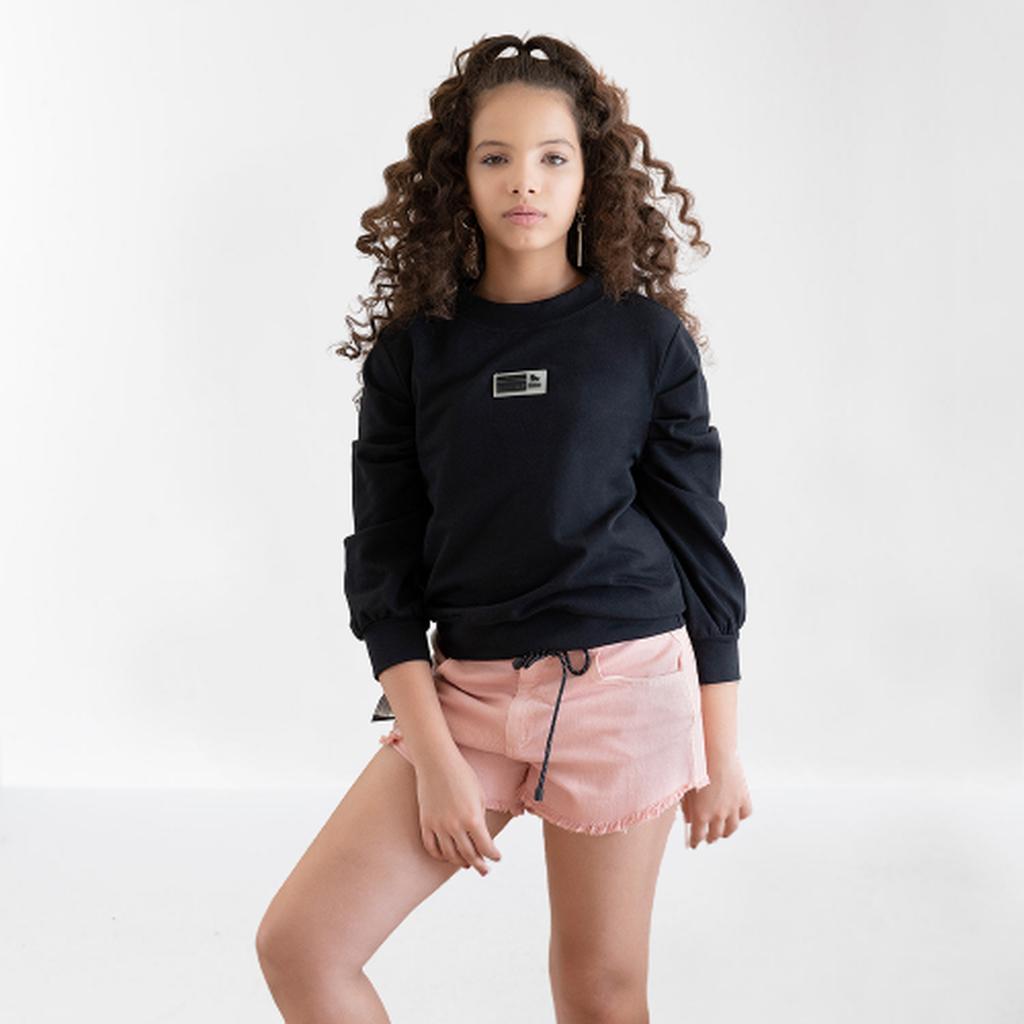 Shorts Sarja com Cordão