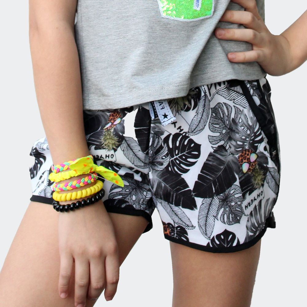 Shorts Teen Bomber Estampado