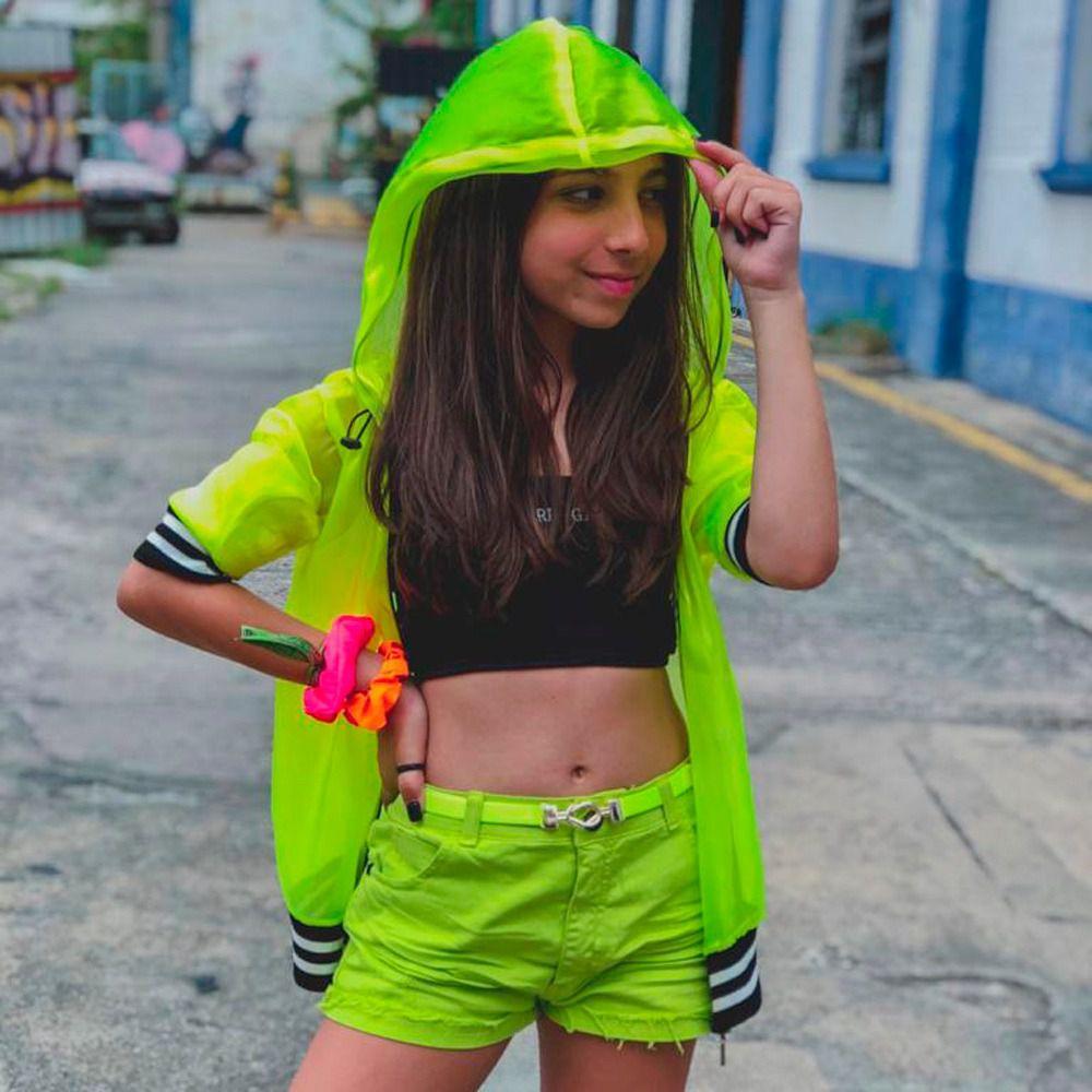 Shorts Teen Sarja Desfiado na Barra - Fruto