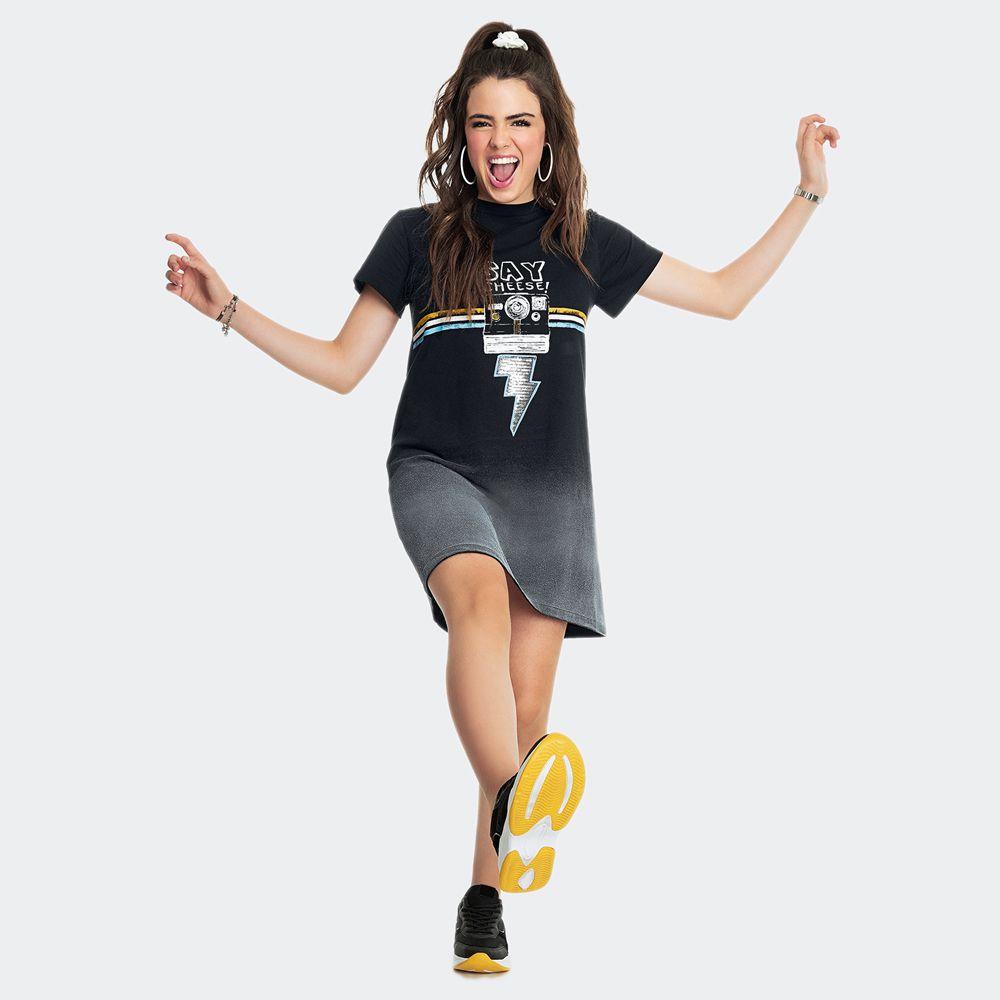 T-Shirt Dress Malha - Nuv.On