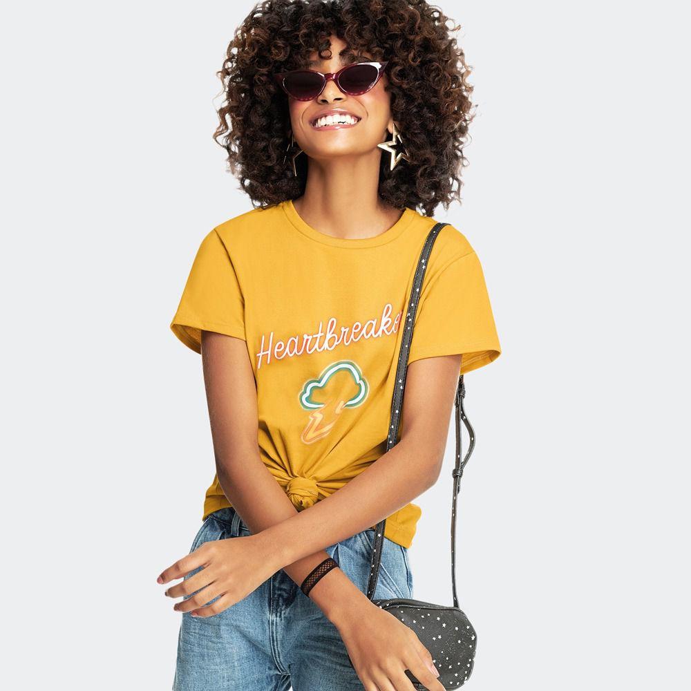 T-Shirt Malha Estampa Neon