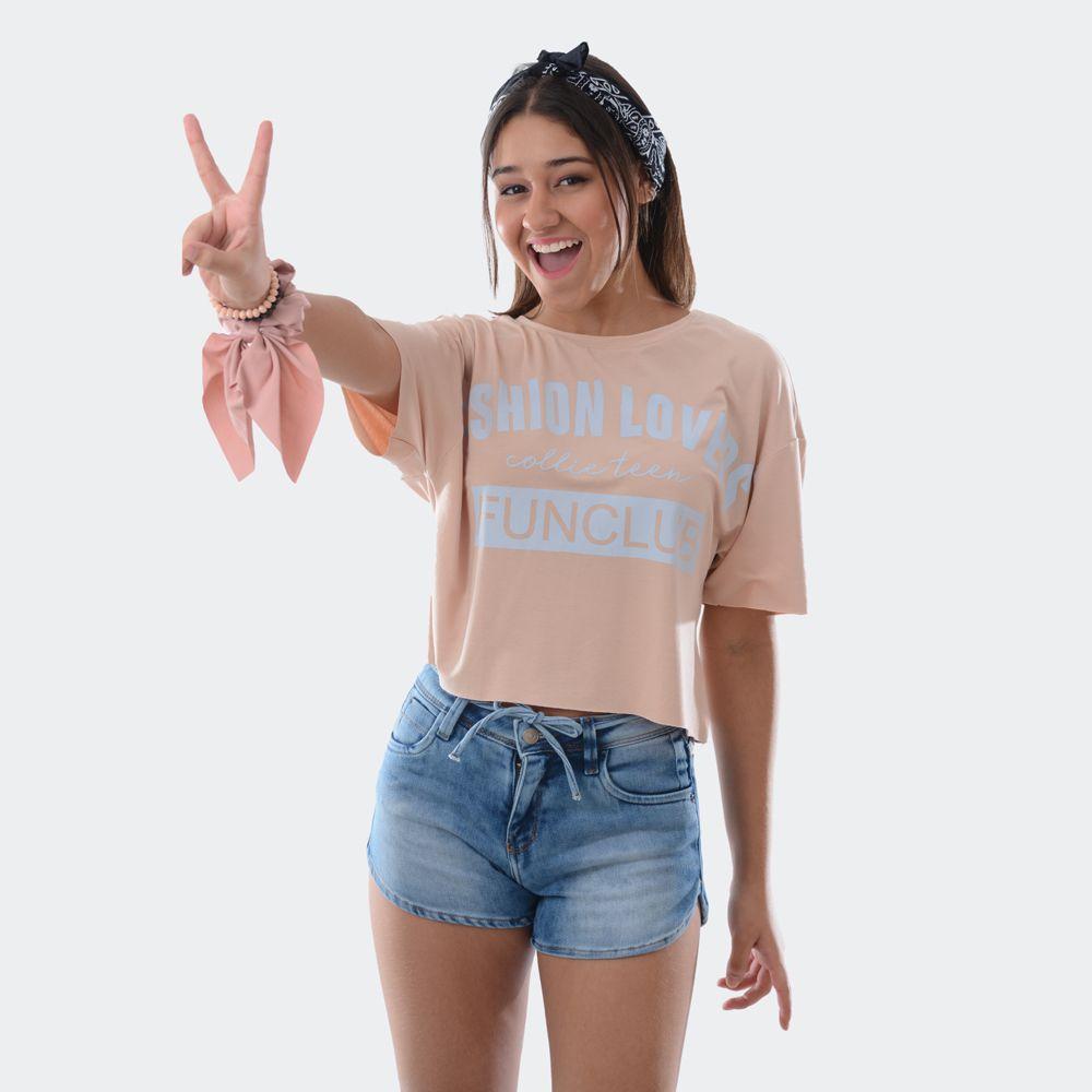 T-Shirt Malha Larguinha - Collie Teen