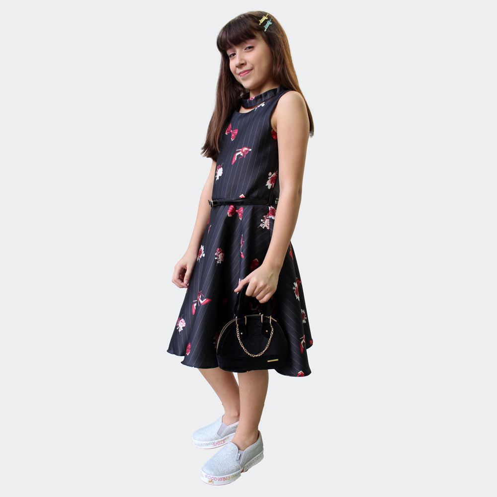 Vestido Estampado Giz - Petit Cherie