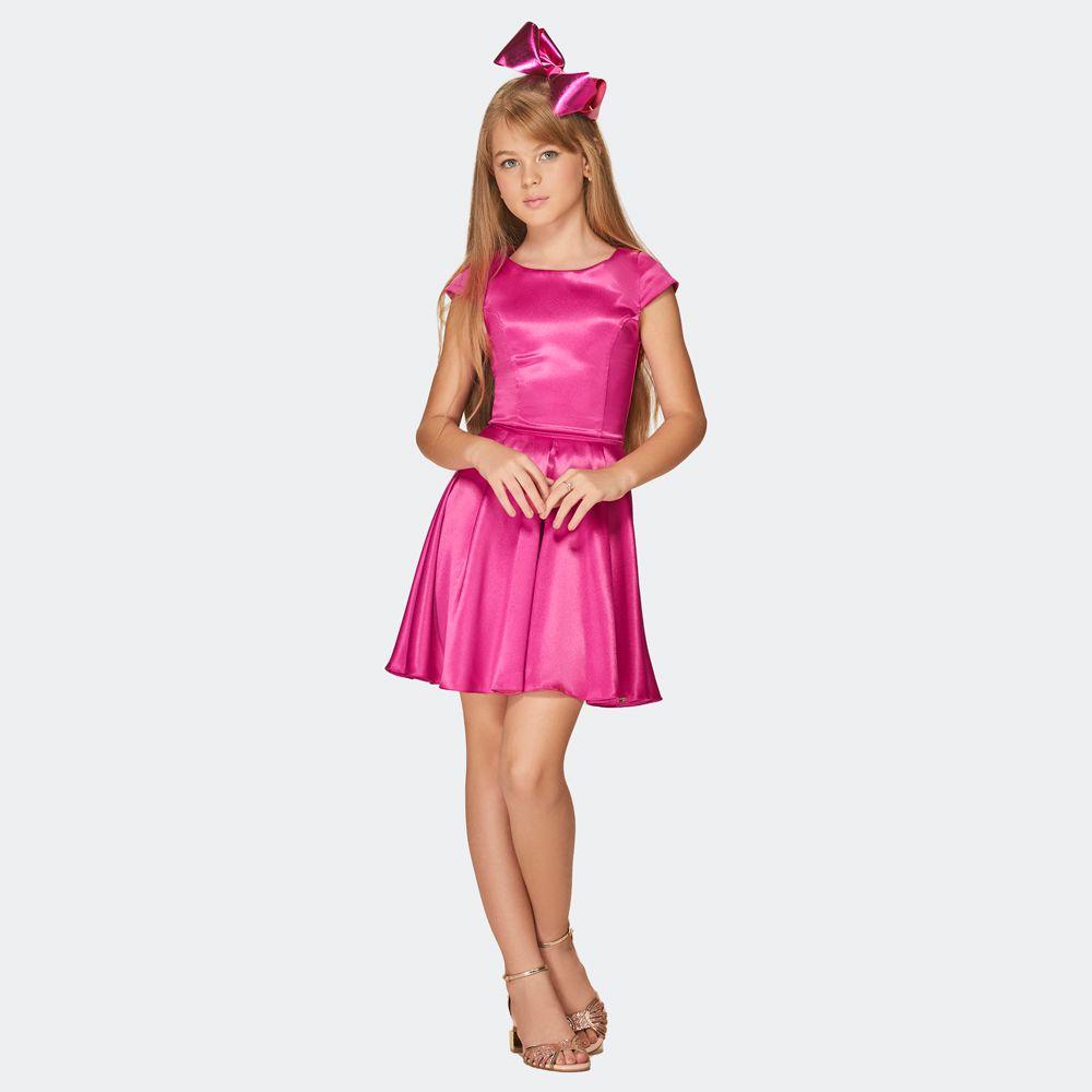 Vestido festa cetim - kpd