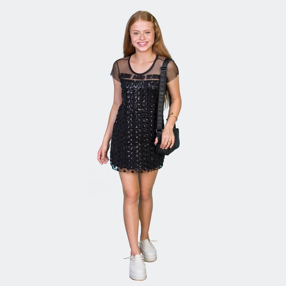 Vestido Festa Teen Bordado Telinha