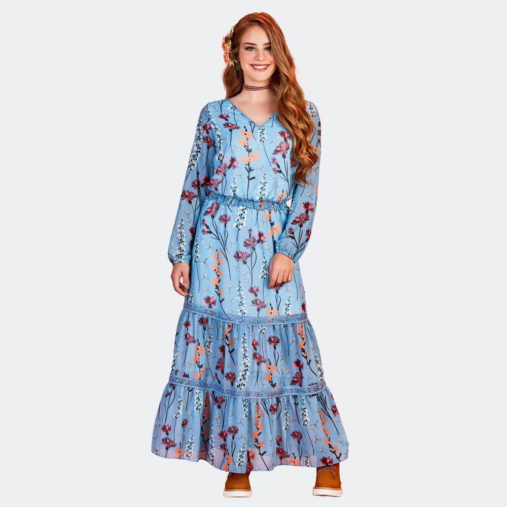 Vestido Floral Vual