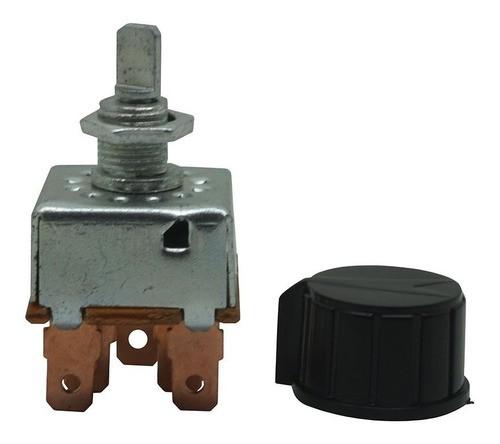 Botão ar condicionado chave reostato universal  3 velocidade
