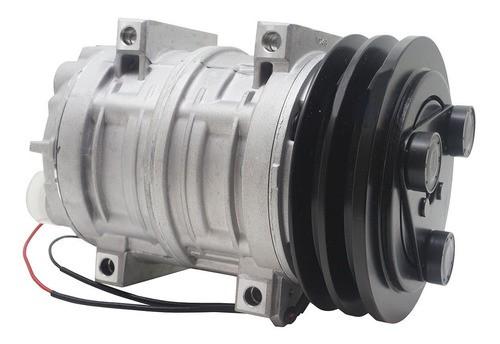 Compressor TM21 HPAD Retroescavadeira Caterpillar 416E Polia 2A 12V