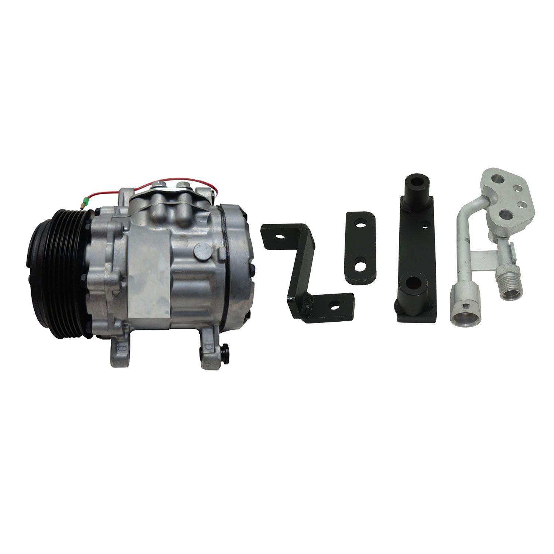 Compressor Universal 7B10 + Suporte Gm Corsa Celta 1.0 de 1999 a 2003 para Adaptação Corsa Zexel