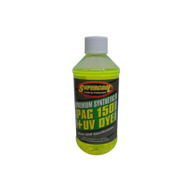 Oleo para Compressor R134a PAG 150 Supercool 237ml com Contraste Ultravioleta