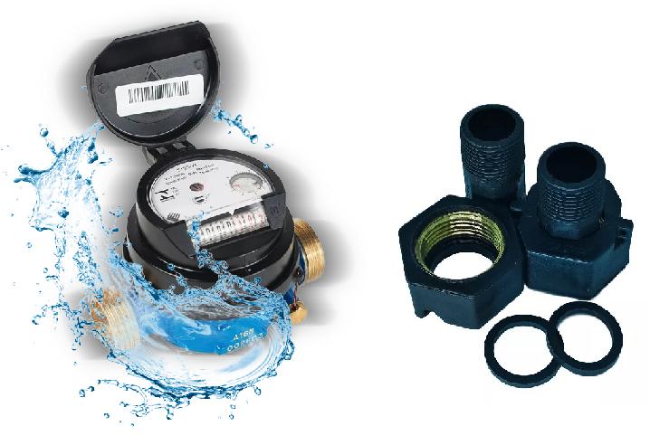 Hidrômetro Unijato 1.5 X 3/4 X 115 + Conexão PVC INS