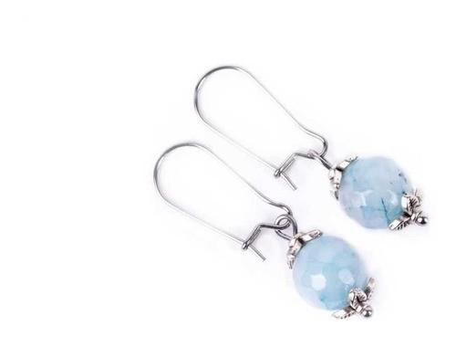 Brinco Jade azul claro