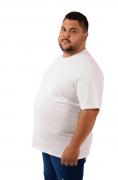 Camiseta Extra Algodão Branco Gola Comum