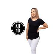 Kit 10 Blusa Max Long