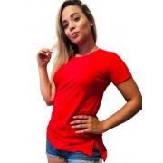 T shirt Longline Feminina Viscolycra