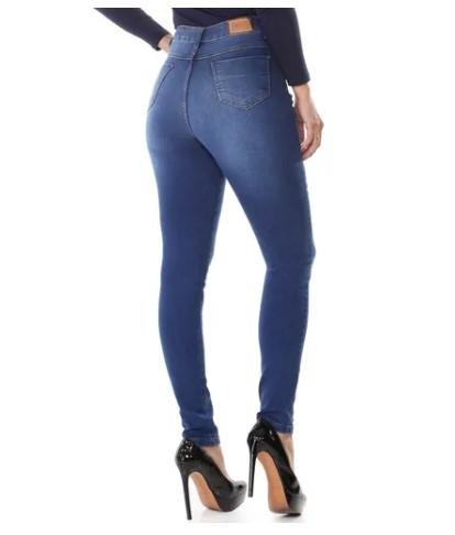 Calça Jeans Lycra Feminina Lipo Sawary