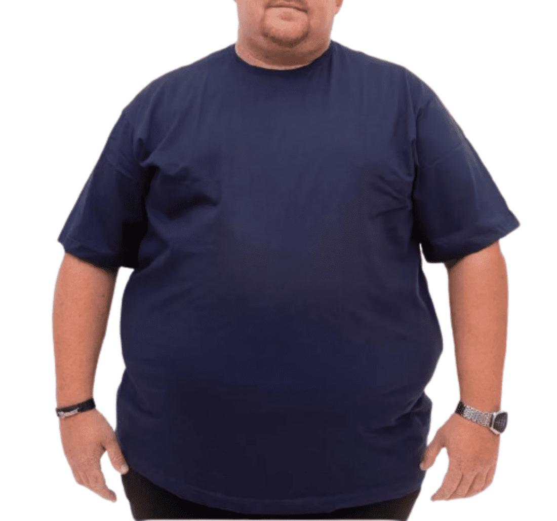 Camiseta extra grande G3 G4 G5 G6 manga curta gola careca