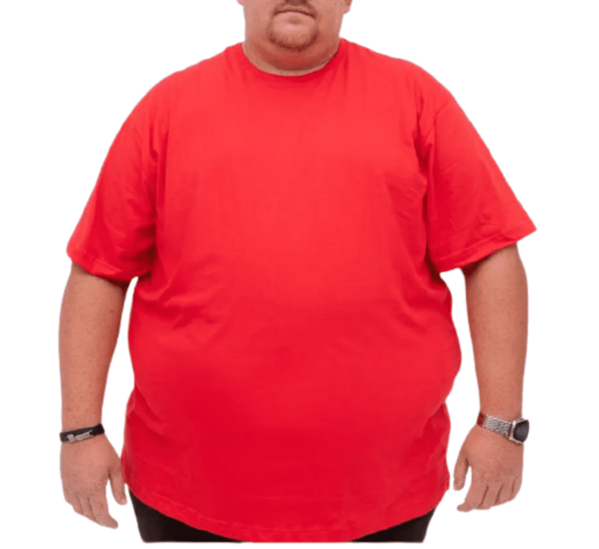 Camiseta extra grande G4 G5 G6 manga curta gola careca