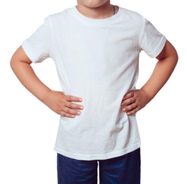 Camiseta Gola redonda manga curta infanto juvenil