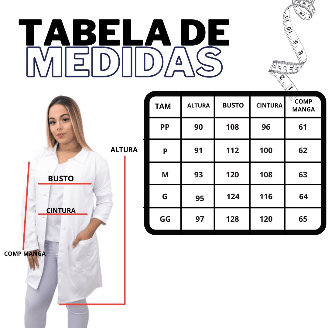 Jaleco Gabardine hospitalar