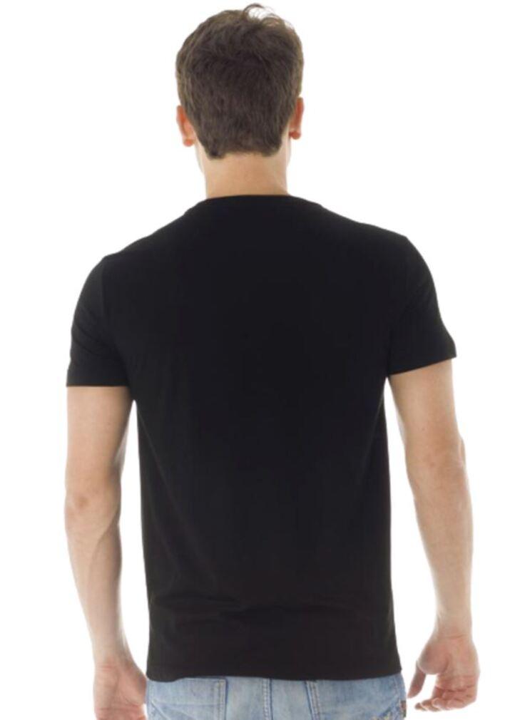 Kit 10 Camiseta Masculina Gola V Preto