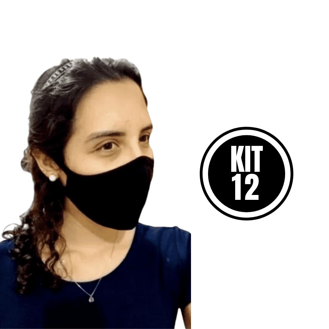 Kit 12 Máscara Ninja Preta